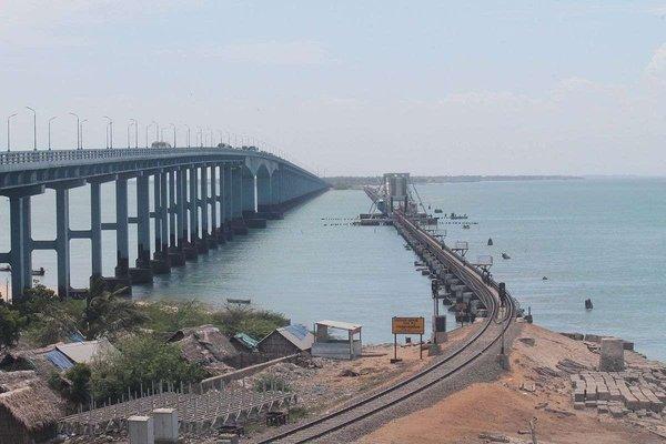 Pamban road bridge