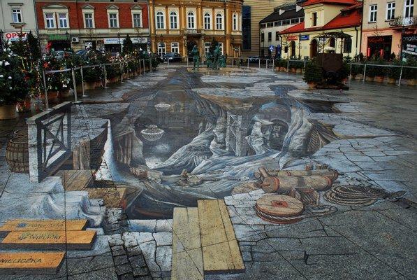 The painting 3D Salt World