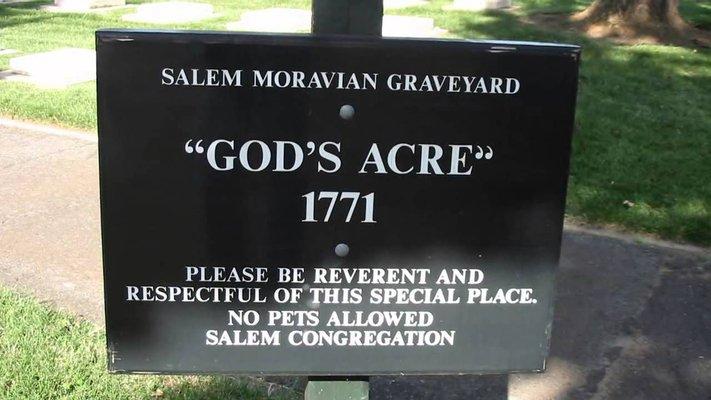 Salem Moravian God's Acre