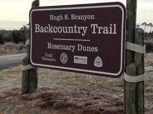 Hugh S. Branyon Backcountry Trail - Rosemary Dunes Trailhead