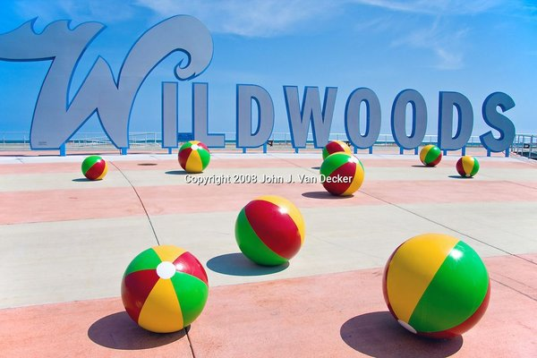 Wildwoods Beach Ball Sign