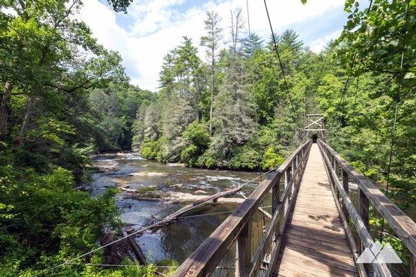 Swinging Bridge on the Toccoa River