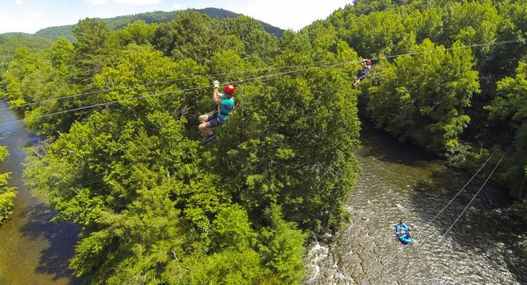 Wildwater Pigeon Rafting and Zipline Canopy Tours