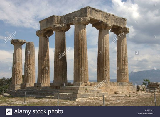 Archaological Site Of Corinth And Temple of Apollo
